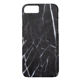 Schwarzes Marmorsteinkorn/Beschaffenheit iPhone 8/7 Hülle