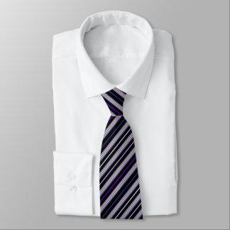 Schwarzes - mehrfache gestreifte Krawatte