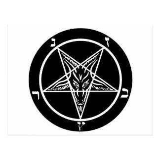 schwarzes Metall, baphomet, Lord von Dunkelheit! Postkarte