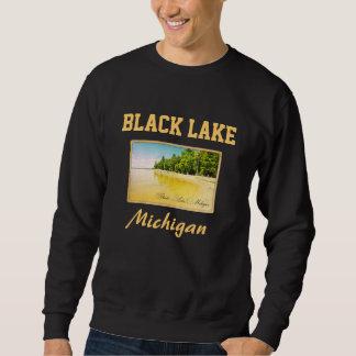 Schwarzes Michigansee-Postkarten-Sweatshirt Sweatshirt