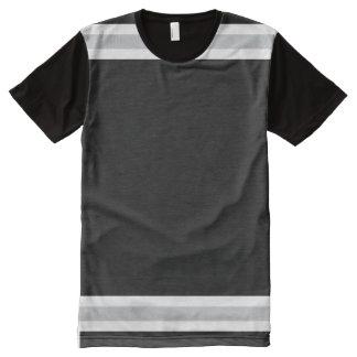 Schwarzes mit Weiß und Silber-Ordnung T-Shirt Mit Komplett Bedruckbarer Vorderseite