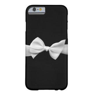 Schwarzes mit weißem Bandbogen iPhone 6 Kasten Barely There iPhone 6 Hülle