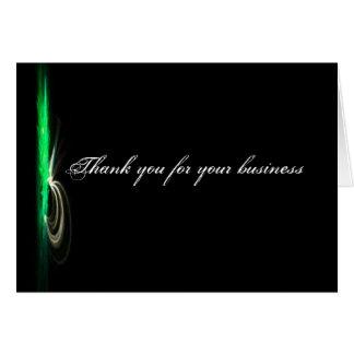 Schwarzes modernes Geschäft danken Ihnen Mitteilungskarte