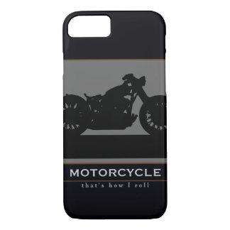 schwarzes Motorrad iPhone 8/7 Hülle