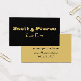 Schwarzes mutiges Gold beschriftet Rechtsanwälte Visitenkarten