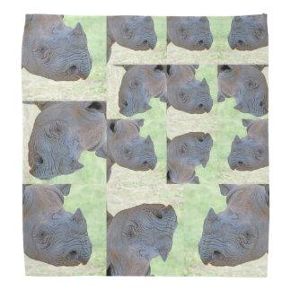 Schwarzes Nashorn Kopftücher