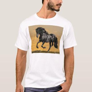 Schwarzes Pferd T-Shirt