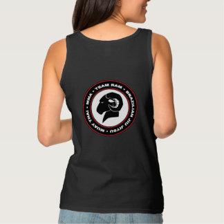 Schwarzes RAM-Trägershirt der Damen, entspannter Tank Top