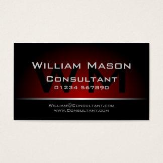 Schwarzes rotes Monogramm beruflich - Visitenkarte