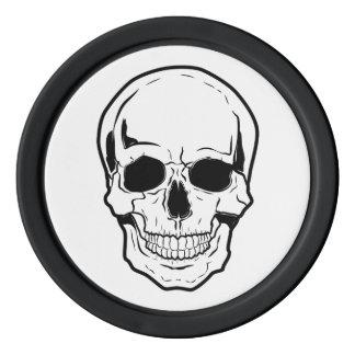 Schwarzes Schädel-Gelächter Poker Chips Sets