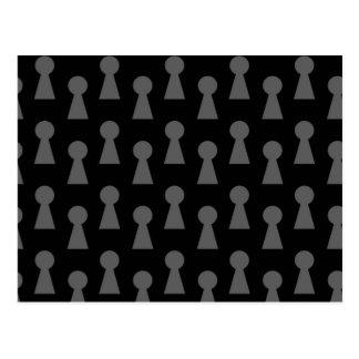 Schwarzes Schlüssellochmuster Postkarte