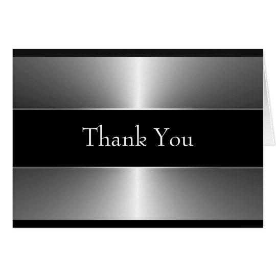 Schwarzes Silber danken Ihnen Karten