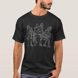 Schwarzes Skelett-T-Stück T-Shirt