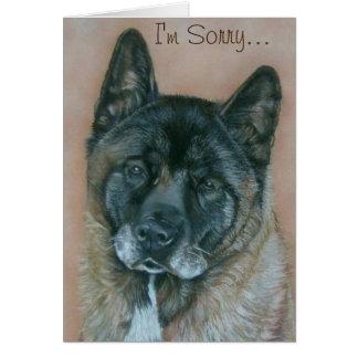 Schwarzes stellte ursprüngliches Hundeporträt Karte