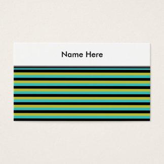 Schwarzes, Türkis und gelbe Streifen Visitenkarte
