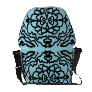 Schwarzes u. blaues Netz Kurier Taschen