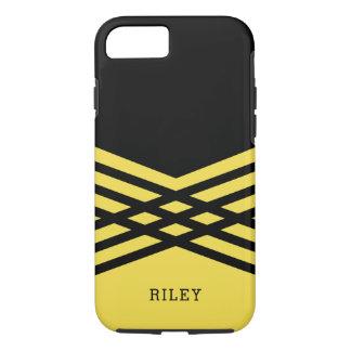 Schwarzes u. gelbes geometrisches - addieren Sie iPhone 7 Hülle
