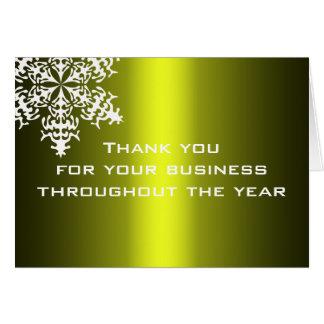 Schwarzes u. Goldgeschäft danken Ihnen Mitteilungskarte