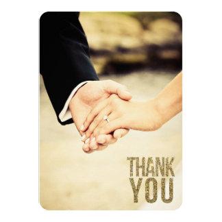 Schwarzes u. GoldGlitter danken Ihnen Foto-Karten 11,4 X 15,9 Cm Einladungskarte