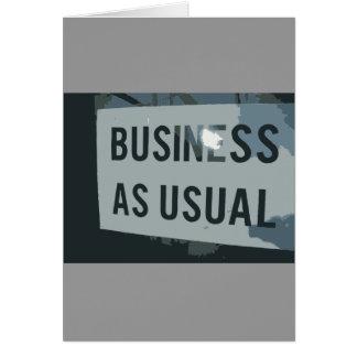 Schwarzes u. graues Geschäft als übliches Zeichen Mitteilungskarte