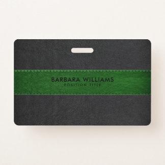 Schwarzes u. grünes Imitat-Leder Ausweis