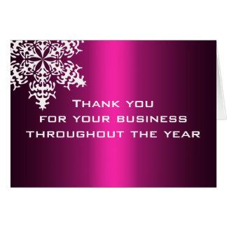 Schwarzes u. rosa Geschäft danken Ihnen Mitteilungskarte