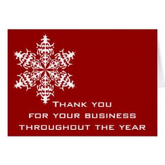 Schwarzes u. rotes Geschäft danken Ihnen Mitteilungskarte