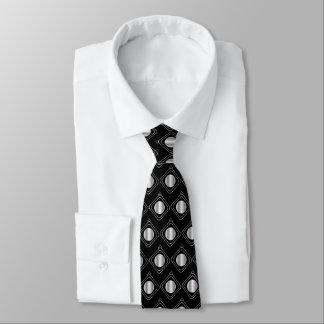 Schwarzes u. Silber eingepackt - in der Krawatte