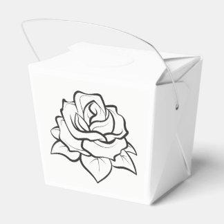 Schwarzes u. weißes Hochzeits-Rosen-Blumen-mit Geschenkschachtel