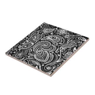 Schwarzes u. weißes keramikfliese