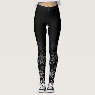 Schwarzes u. weißes modernes grafisches leggings