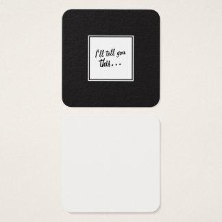 Schwarzes u. weißes Quadrat-Anmerkungen für das Quadratische Visitenkarte