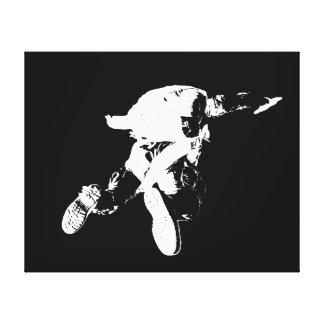 Schwarzes u. weißes Skydiving Leinwanddruck