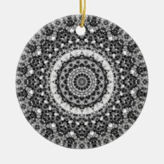 """Schwarzes u. weißes """"Snowy-Nebenfluss-"""" Keramik Ornament"""