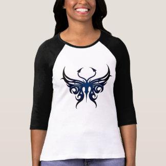 Schwarzes und blaues Schmetterlingst-stück! T-Shirt