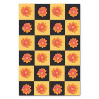 schwarzes und gelbes KaroSeidenpapier der Seidenpapier