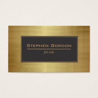 Schwarzes und Gold elegant Visitenkarte