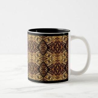 Schwarzes und Gold Zweifarbige Tasse