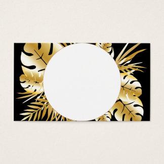Schwarzes und Goldelegante tropische Visitenkarte