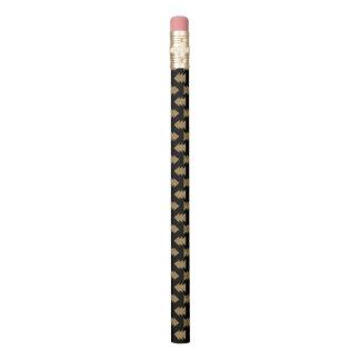 Schwarzes und Goldfolien-Muster Bleistift 1