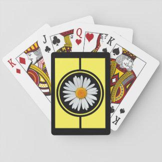 Schwarzes und Goldgänseblümchen fantastisch Spielkarten