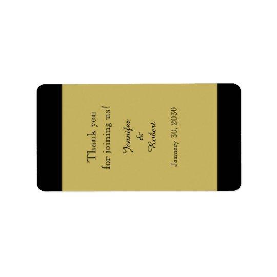 Schwarzes und Goldhochzeits-Lippenbalsam-Aufkleber Adressetiketten