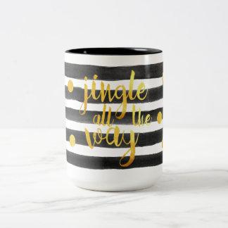 Schwarzes und Goldklingel-vollständig Tasse