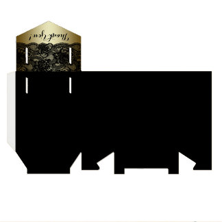 Schwarzes und Goldspitze-Bevorzugungs-Kästen Geschenkkartons