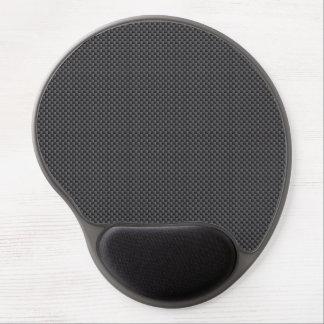 Schwarzes und graues Kohlenstoff-Faser-Polymer Gel Mousepad