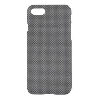 Schwarzes und graues Kohlenstoff-Faser-Polymer iPhone 8/7 Hülle