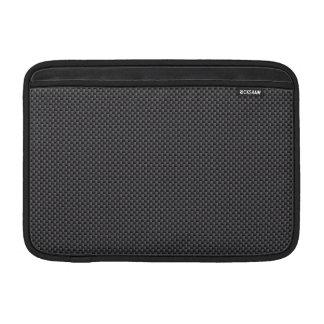 Schwarzes und graues Kohlenstoff-Faser-Polymer MacBook Air Sleeve