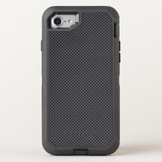 Schwarzes und graues Kohlenstoff-Faser-Polymer OtterBox Defender iPhone 8/7 Hülle