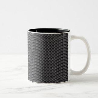Schwarzes und graues Kohlenstoff-Faser-Polymer Zweifarbige Tasse