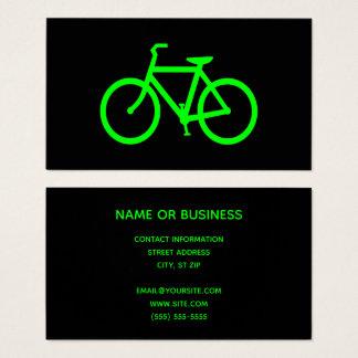 Schwarzes und Limones grünes Fahrrad Visitenkarte